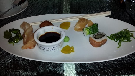 Ala Carte Sushi Breakfast at Conrad Maldives 1