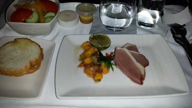 CX Business Class Food 1