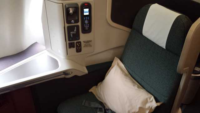 CX Business Class Seat 1