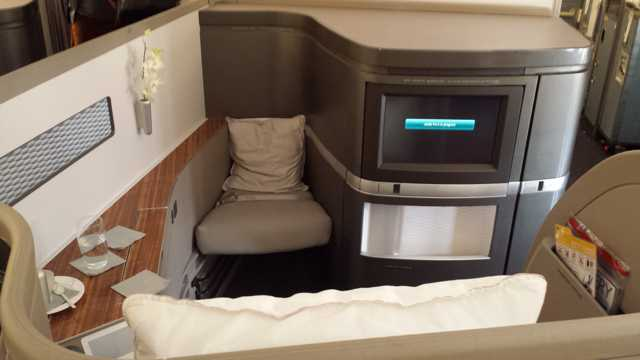 CX First Class HKG to ORD seat 7