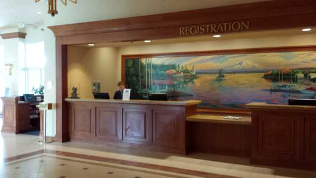 Seattle Hilton Airport Check-in 1