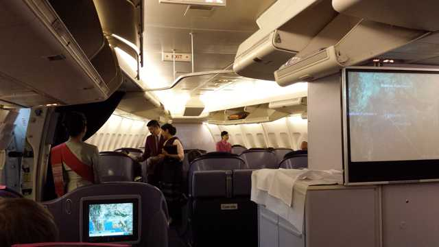 Thai Business Class Flight Cabin 1